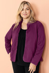 Plus Size - Sara Ponte Ruffle Trim Jacket