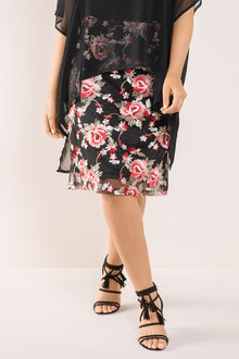 Plus Size - Sara Embroidered Skirt - 190525