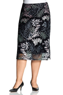 Plus Size - Sara Embroidered Skirt