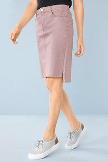 Capture Step Hem Denim Skirt