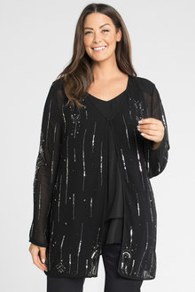 Plus Size - Sara Beaded Jacket