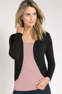 Capture Short Shawl Collar Cardigan