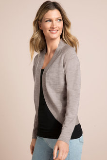 Capture Merino Short Shawl Collar Cardigan
