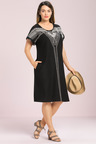 Plus Size - Sara Embroidered Knit Dress