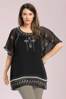 Plus Size - Sara Embroidered Tunic