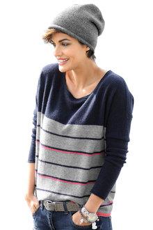 Euro Edit Merino Blend Stripe Sweater