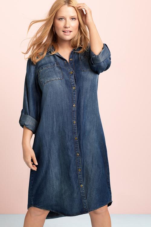 Sara Lyocell Shirt Dress