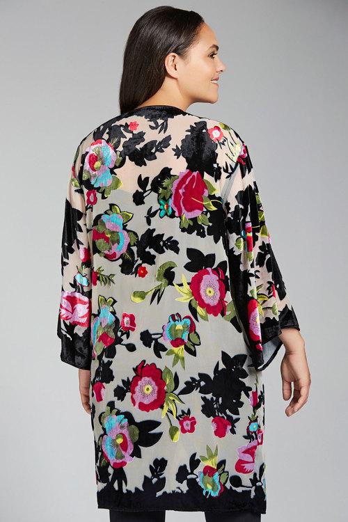 Sara Burnout Kimono