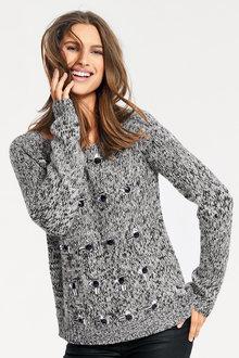 Heine Jewel Front Sweater
