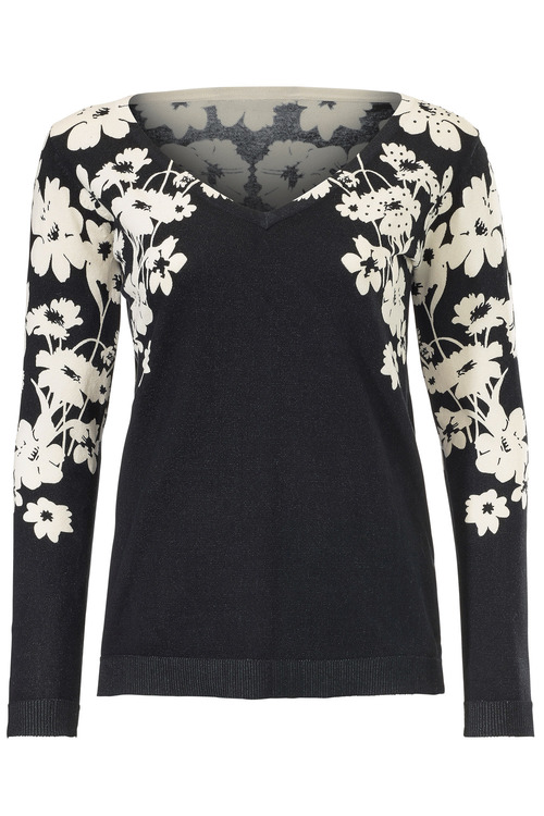 Heine V-Neck Printed Jumper