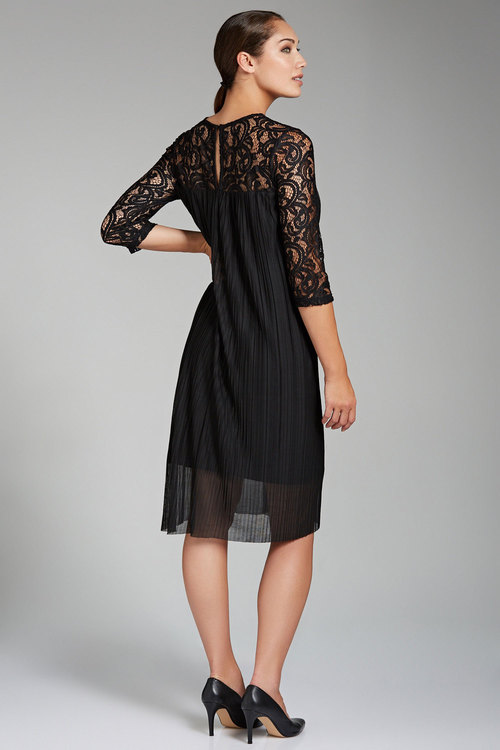 Grace Hill Lace Shift with Pleating