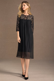 Grace Hill Lace Shift with Pleating - 190633
