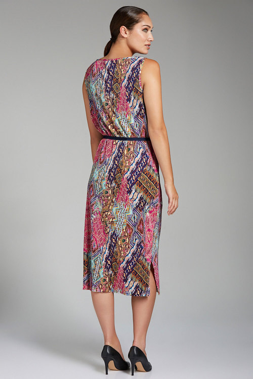 Grace Hill Printed Pleated Sheath Dress