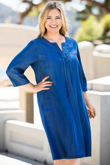 Plus Size - Sara Lyocell Eyelet Dress