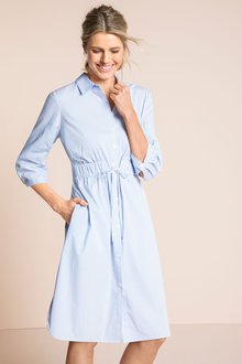 Capture Tie Waist Shirt Dress