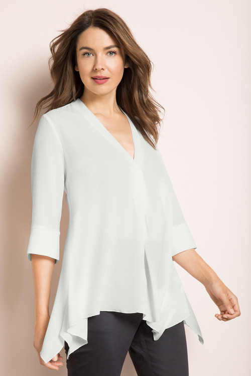 Capture V Neck Textured Shirt