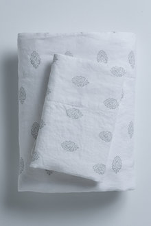 Printed Linen Sheet Set
