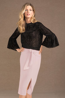 Grace Hill Flocked Top - 190693