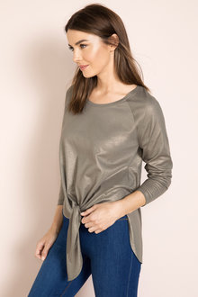 Capture Long Sleeve Metallic Top - 190696