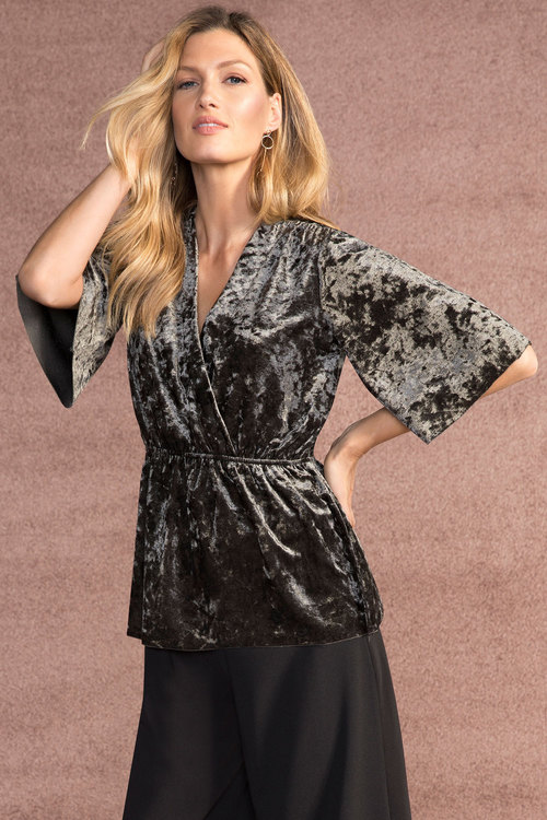 Grace Hill Crushed Velvet Top