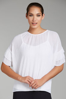Grace Hill Poly Pleat Top