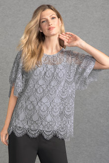 Grace Hill Two Tone Lace Top