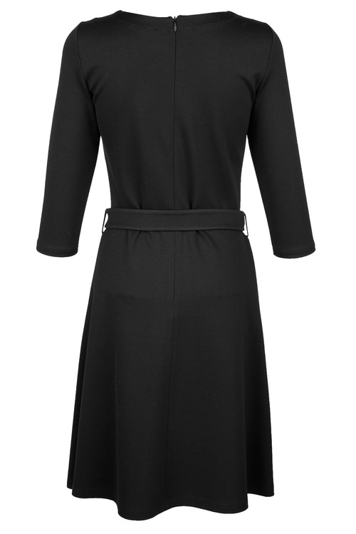 Euro Edit Belted Dress