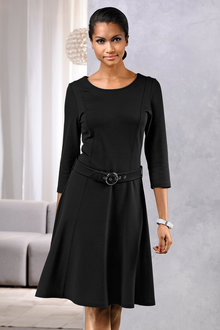 Euro Edit Belted Dress