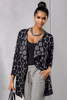 Euro Edit Jacquard Cardigan