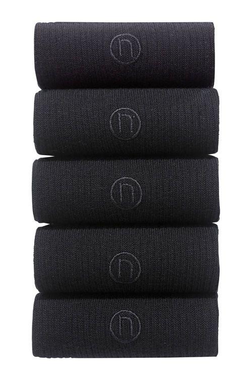 Next Rib N Embroidered Socks Five Pack