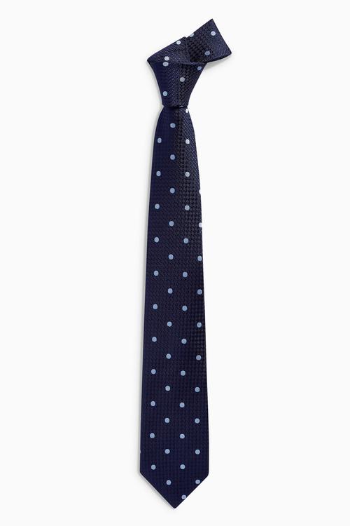 Next Signature Textured Spot Tie