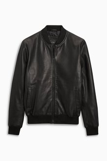 Next Leather Bomber Jacket