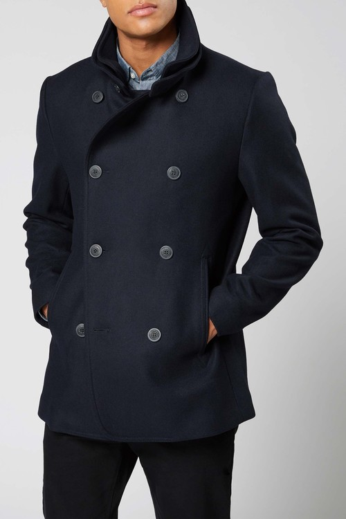 Next Wool Rich Double Breasted Jacket