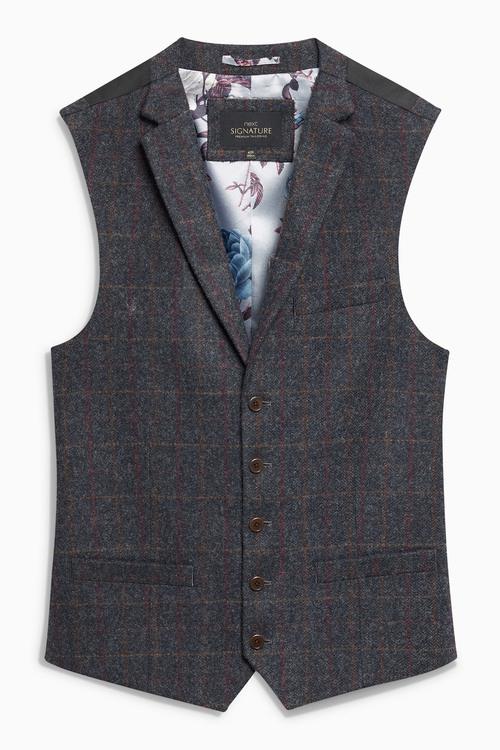 Next Large Check Waistcoat