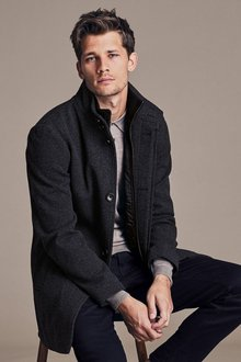 Next Funnel Neck Zip Through Coat - 190964