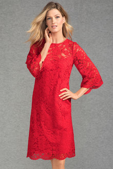Grace Hill Bell Sleeve Lace Shift