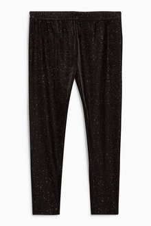 Next Velvet Sparkle Leggings (3-16yrs)