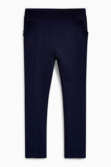 Next Frill Pocket Ponte Stretch Trousers (3-16yrs)