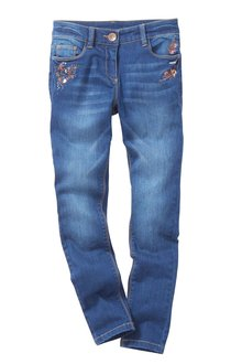 Next Embroidered Floral Jeans (3-16yrs)
