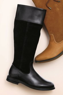 Next Leather Waterproof Long Boots