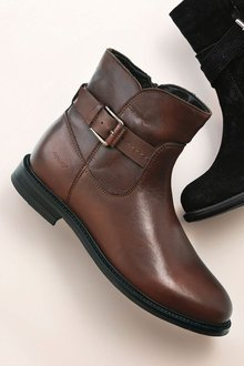 Next Leather Waterproof Ankle Boots