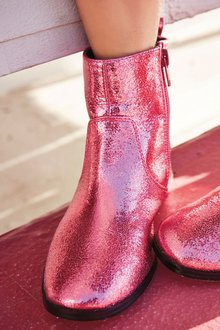 Next Square Toe Metallic Boots (Older Girls)