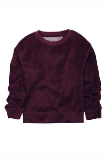 Next Velour Ruched Sleeve Sweater (3-16yrs)