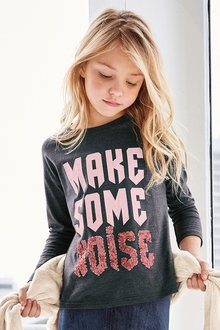 Next Make Some Noise Sequin T-Shirt (3-16yrs)
