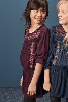 Next Embroidered Playsuit (3-16yrs)