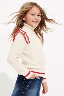 Next Tipped Roll Neck (3-16yrs)