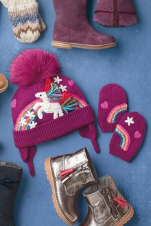 Next Unicorn Hat And Gloves Set (Younger Girls)