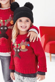 Next Christmas Reindeer Jumper (3mths-6yrs)