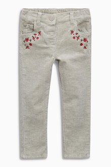 Next Embellished Cord Trousers (3mths-6yrs)