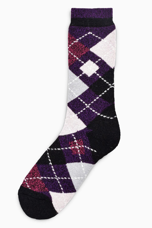 2faaacfdc Next Heat Holders Argyle Pattern Walking Socks Online